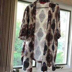 Boohoo printed Kimono